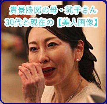 貴景勝の母の30代と今