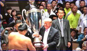 トランプ大統領相撲観戦
