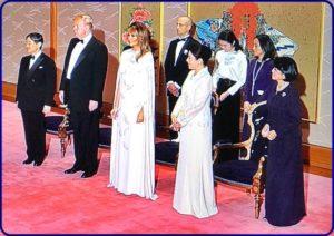 トランプ大統領歓迎晩餐会衣装