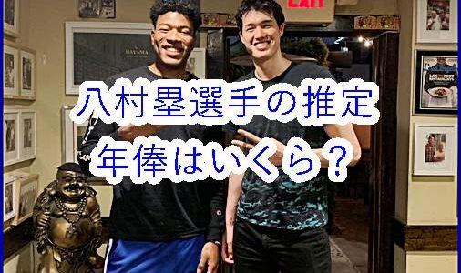 八村塁のNBAでの推定年俸はいくら?田臥・渡邉選手やNBAトップ選手と大比較