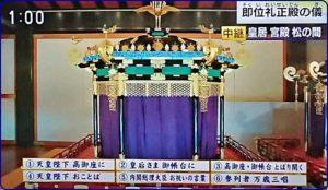 即位礼正殿の儀の令和天皇の衣装