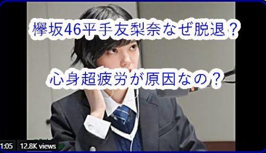 【不協和音】平手友梨奈の意思でなぜ脱退を?卒業じゃない欅坂46の闇に迫る!