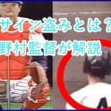サイン盗みとは?野村監督動画で分かりやすく解説