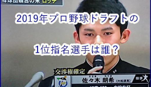 【動画】2019年プロ野球ドラフトの1位指名の選手別会見まとめ!