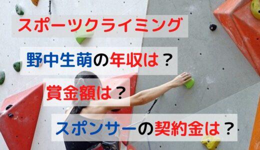 スポーツクライミング女子の野中生萌の年収はいくら?意外な賞金額やスポンサー契約料を大調査!